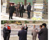 بازدید مسئولین از روند ساخت و تجهیز پمپ بنزین ولی آباد بخش مرزن آباد