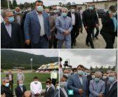 بازدید معاون رئیس جمهور و رئیس سازمان برنامه و بودجه کشور و نماینده مردم در خانه ملت از ورزشگاه ۵۰۰۰ نفری روستای تجن کلا_چالوس